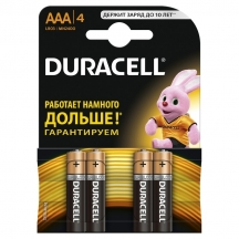 Батарейка DURACELL LR03 / AAA MN2400, 4 шт / уп (УПАК.)