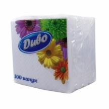 Серветки білі Диво (уп.100шт)