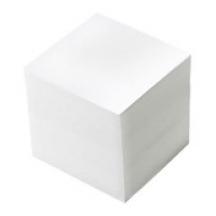 Папір для нотаток 90*90, 1000 л. біла